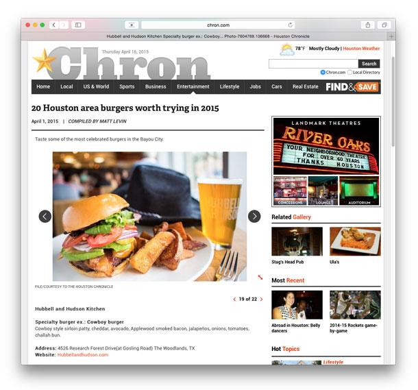 Houston Chronicle Cowboy Burger