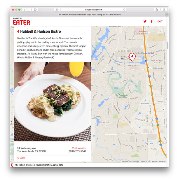 Eater Houston Hottest Brunches in Houston